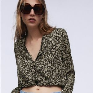 NWT Zara Print Crop Top Size XS